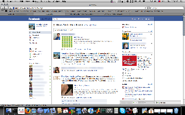 New Facebook UI Screenshot
